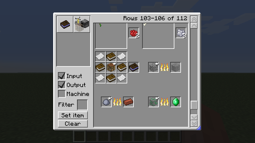 minecraft button recipe